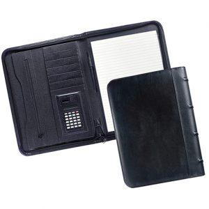 מכתבית כריכת PU דמוי עור A4 עם מחשבון