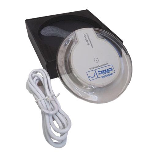 מטען אלחוטי לנייד עם כבל USB